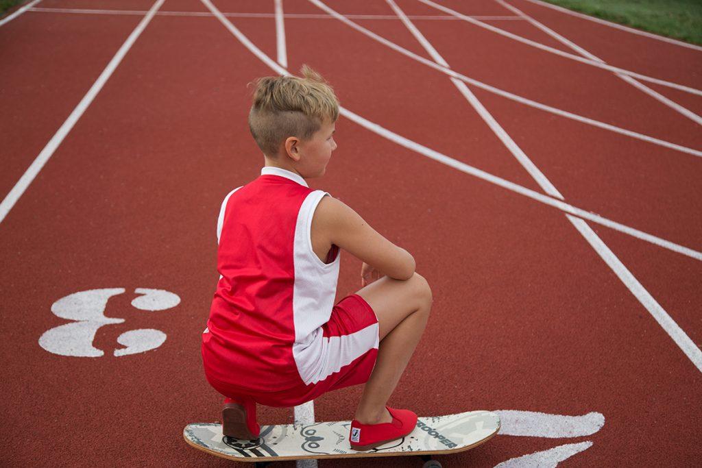 Javer vaikiski batai sportui - raudoni 2